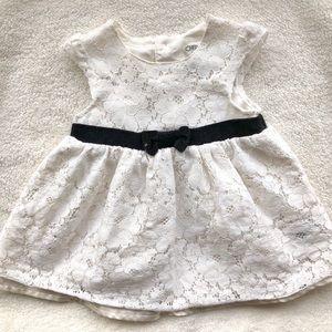 White Lace Dress Size 3-6 months